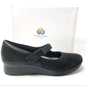 CLOUDSTEPPERS CLARKS Caddell Yale shoes 11 black